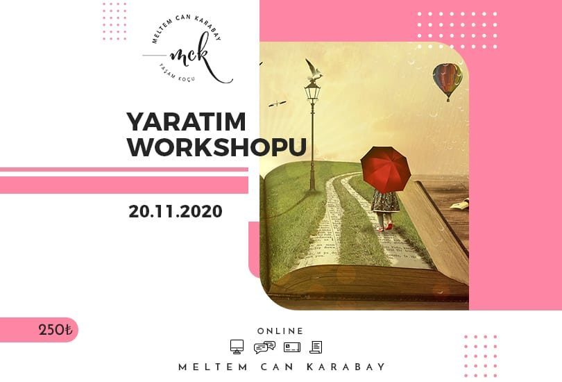 YARATIM WORKSHOPU 20 KASIM'DA BAŞLIYOR